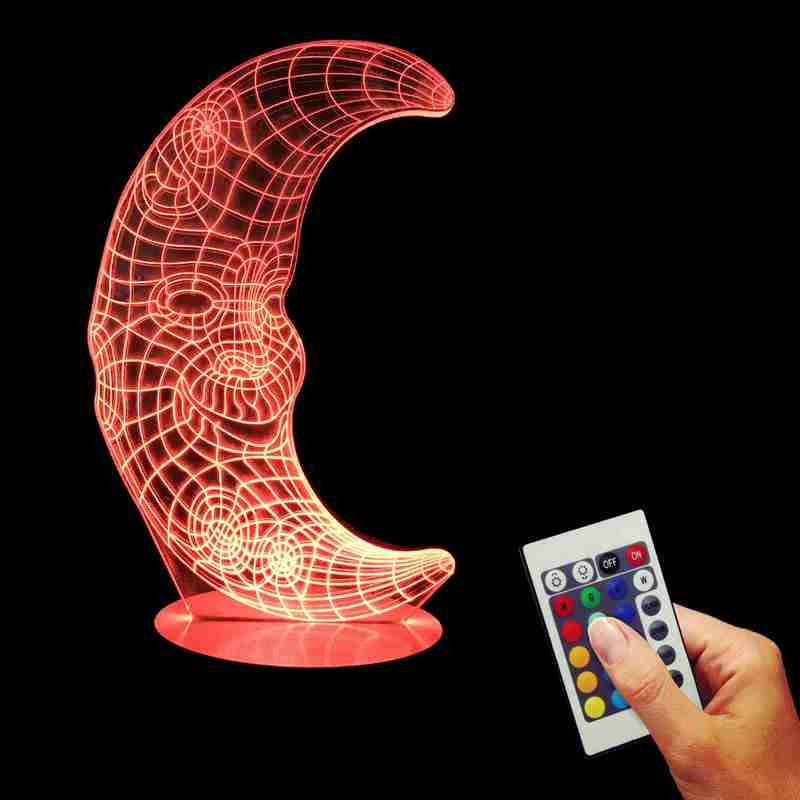 Mr. Moon 3D LED LAMP -  - TheLedHeroes