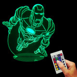 Iron Man flying 3D LED LAMP -  - TheLedHeroes