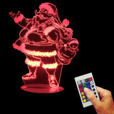 Santa Claus 3D LED LAMP -  - TheLedHeroes