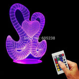 Double Swan 3D LED LAMP -  - TheLedHeroes