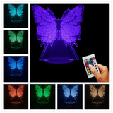 Butterfly 3D LED LAMP -  - TheLedHeroes