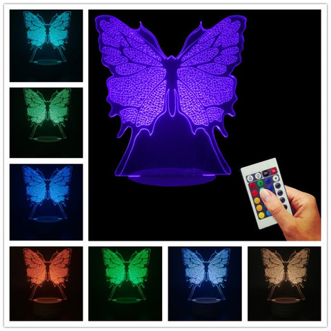 Butterfly 3D LED LAMP