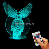 Eagle Skull 3D LED LAMP