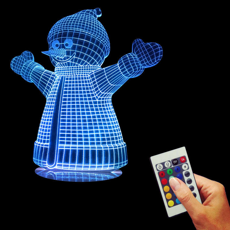 Snowman 3D LED LAMP -  - TheLedHeroes