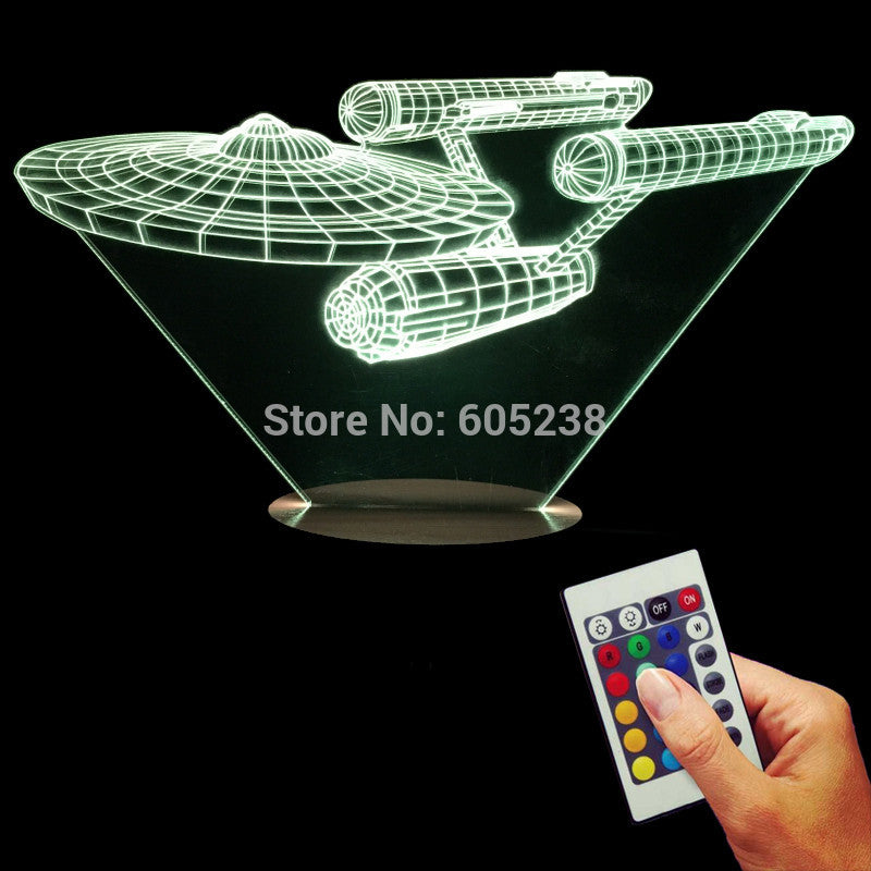 Star Trek Battleship 3D LED LAMP