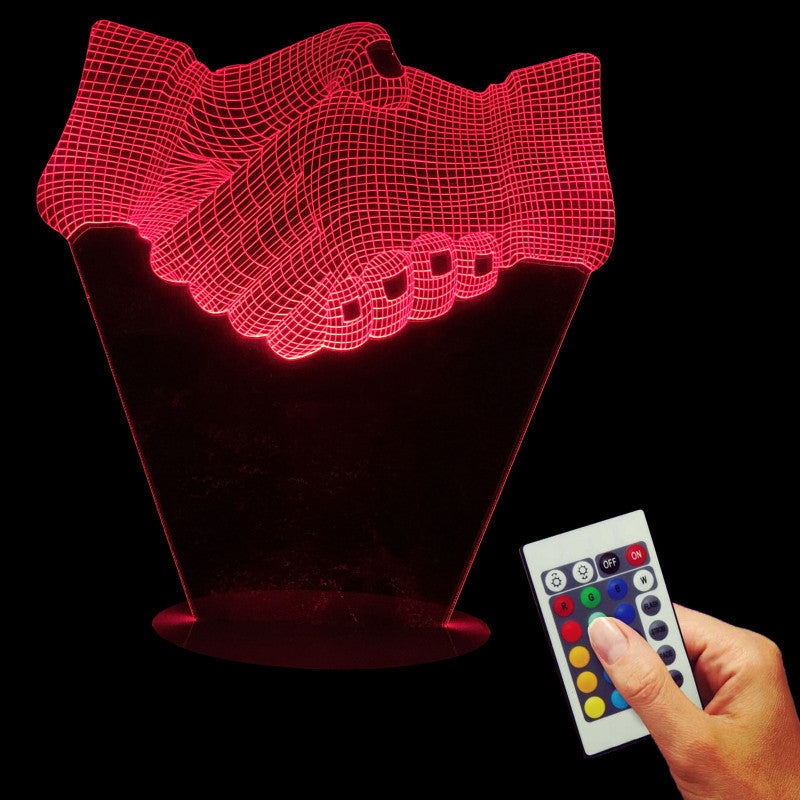 Shake Hands 3D LED LAMP -  - TheLedHeroes