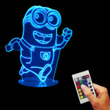 Dave the Minion running 3D LED LAMP -  - TheLedHeroes