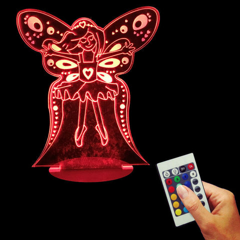 Free Shipping 3D Bulbing Fairy Night Lights Optical Illusion Sleepy Lights Angel Girl LED Desk Lamp For Kid Children