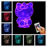 Hello Kitty 3D LED LAMP -  - TheLedHeroes