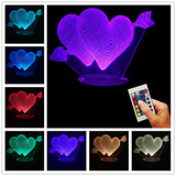 Cupid's Arrow 3D LED LAMP -  - TheLedHeroes