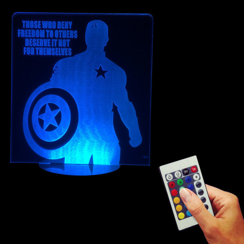 Captain America Freedom 3D LED LAMP -  - TheLedHeroes