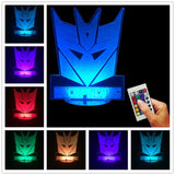 Transformers Logo 3D LED LAMP -  - TheLedHeroes