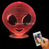 Moonfaced Alien 3D LED LAMP -  - TheLedHeroes