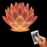 Lotus Flower 3D LED LAMP -  - TheLedHeroes