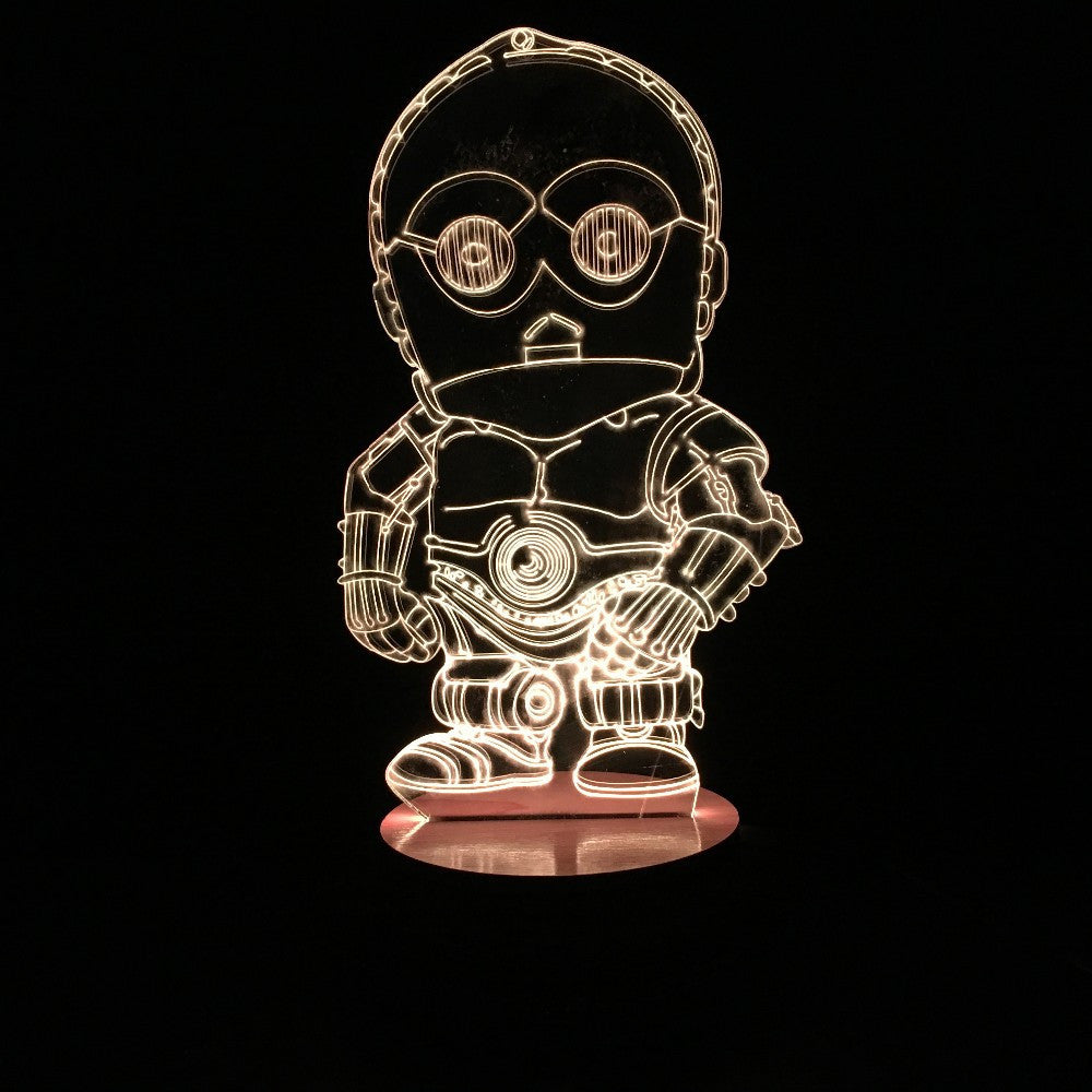 C-3PO 3D LED LAMP -  - TheLedHeroes