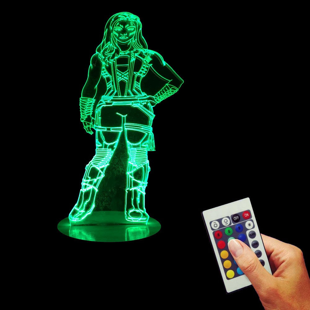 Gamora relaxing 3D LED LAMP -  - TheLedHeroes