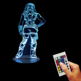 Free Shipping Remote Controlled Gamora 3D Desk Night Light Marvel Guardians of the Galaxy Multi-Colored Bulbing Light