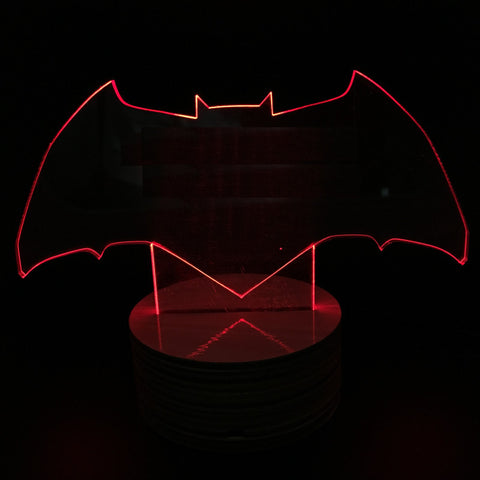Batman Logo 3D LED LAMP -  - TheLedHeroes