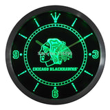 Chicago Blackhawks Neon Sign LED Wall Clock