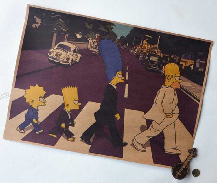 Simpson On The Road Wall Poster -  - TheLedHeroes
