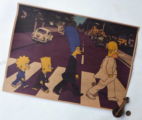 Simpson On The Road Wall Poster