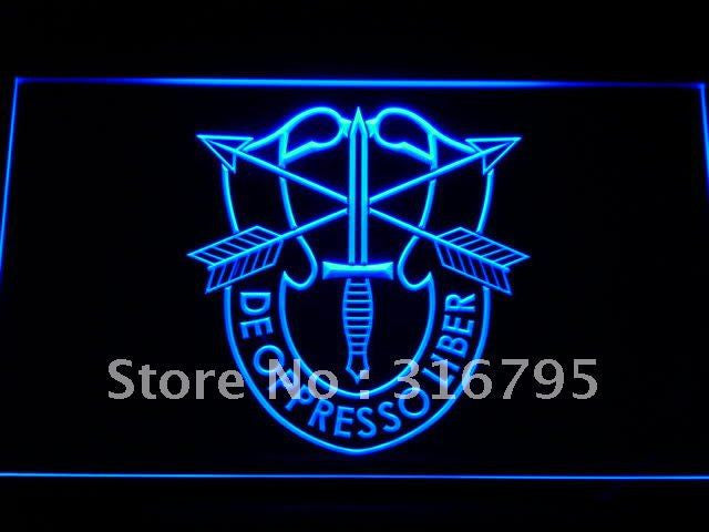 USASFC US Army Special Forces LED Sign - Blue - TheLedHeroes