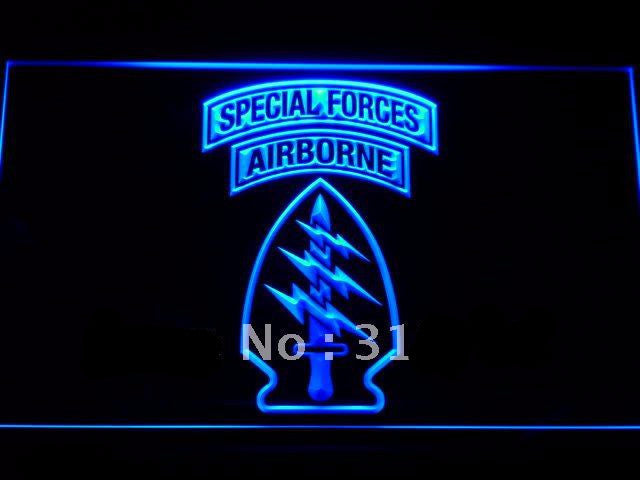 US Army Special Forces Air Borne LED Sign - Blue - TheLedHeroes