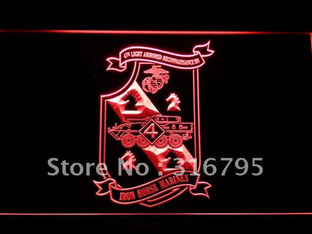 4th Armored Recon Battalion USMC LED Sign - Red - TheLedHeroes