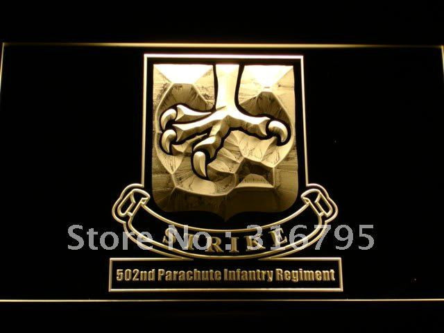 502nd Parachute Infantry Army LED Sign - Multicolor - TheLedHeroes