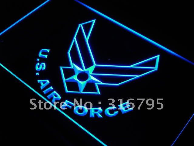 U.S. Air Force Military Logo LED Light Sign - Blue - TheLedHeroes