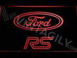 Ford RS LED Neon Sign USB - Red - TheLedHeroes
