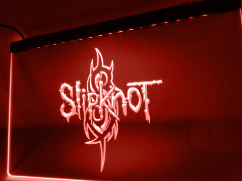 FREE Slipknot Band Logo Rock n Roll LED Sign -  - TheLedHeroes