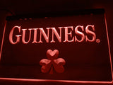 FREE Guinness Beer Shamrock (2) LED Sign - Red - TheLedHeroes