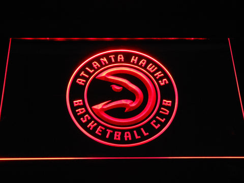 Atlanta Hawks 2 LED Sign - Red - TheLedHeroes