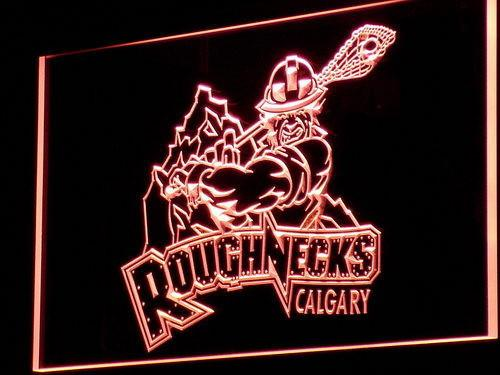 Calgary Roughnecks LED Neon Sign Electrical - Red - TheLedHeroes