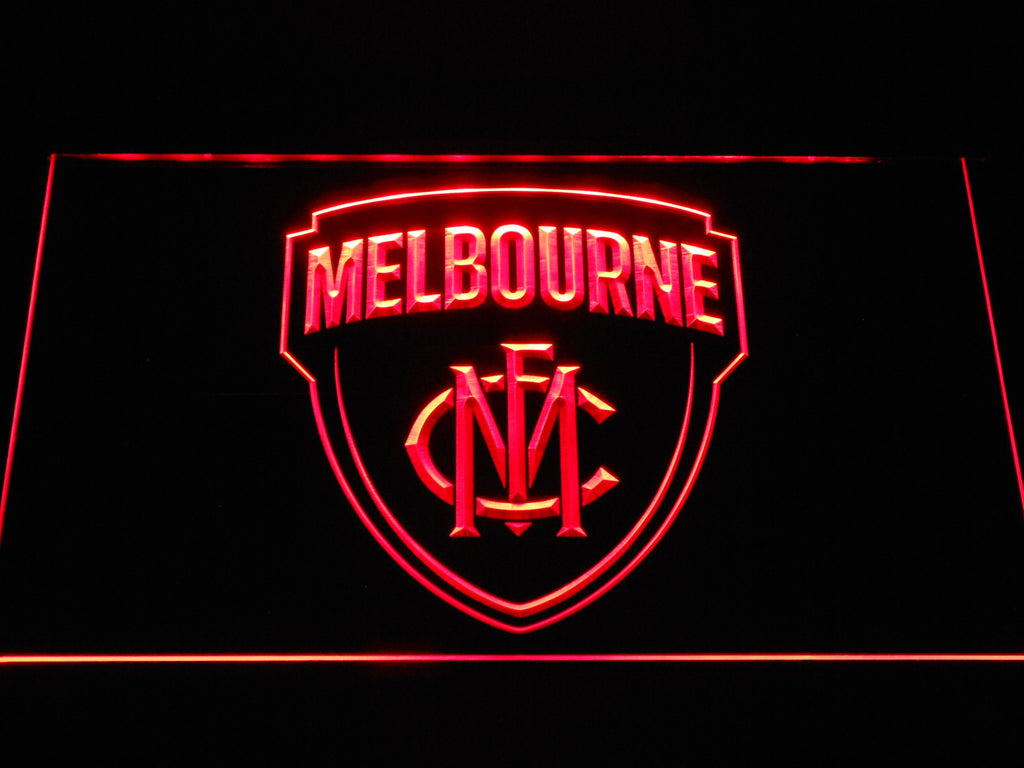 FREE Melbourne Football Club LED Sign - Red - TheLedHeroes