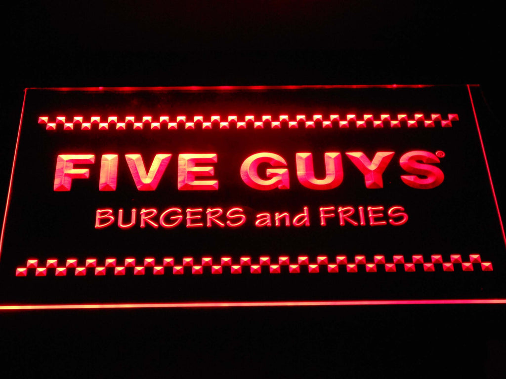 Five Guys LED Neon Sign USB - Red - TheLedHeroes