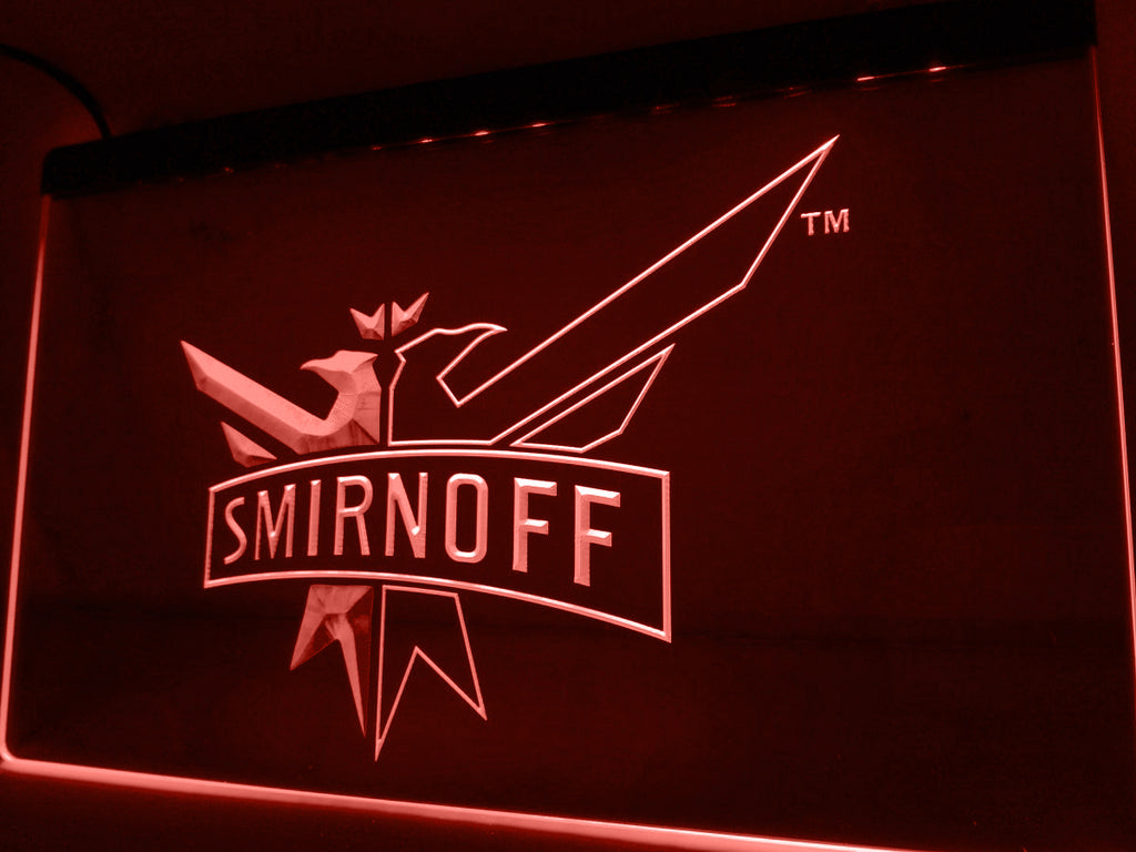 FREE Smirnoff Vodka Wine Beer Bar LED Sign - Red - TheLedHeroes