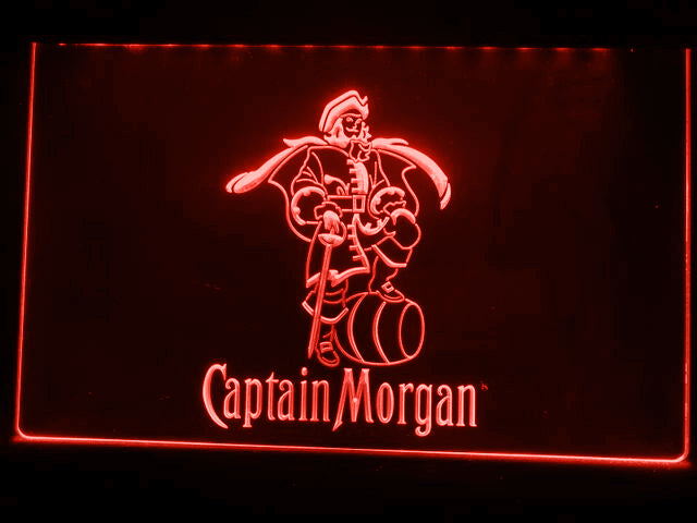 FREE Captain Morgan LED Sign - Red - TheLedHeroes