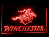 FREE Winchester Firearms Gun Logo LED Sign - Red - TheLedHeroes