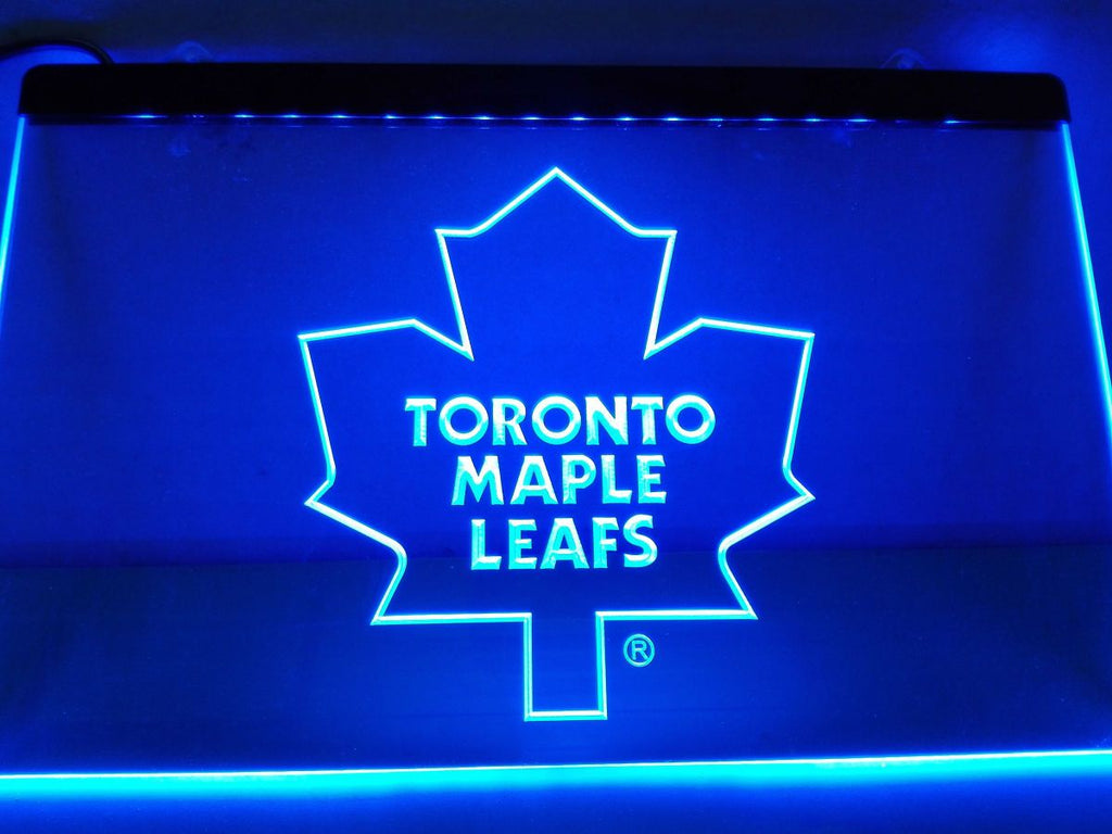 Toronto Maple Leafs LED Neon Sign USB - Blue - TheLedHeroes