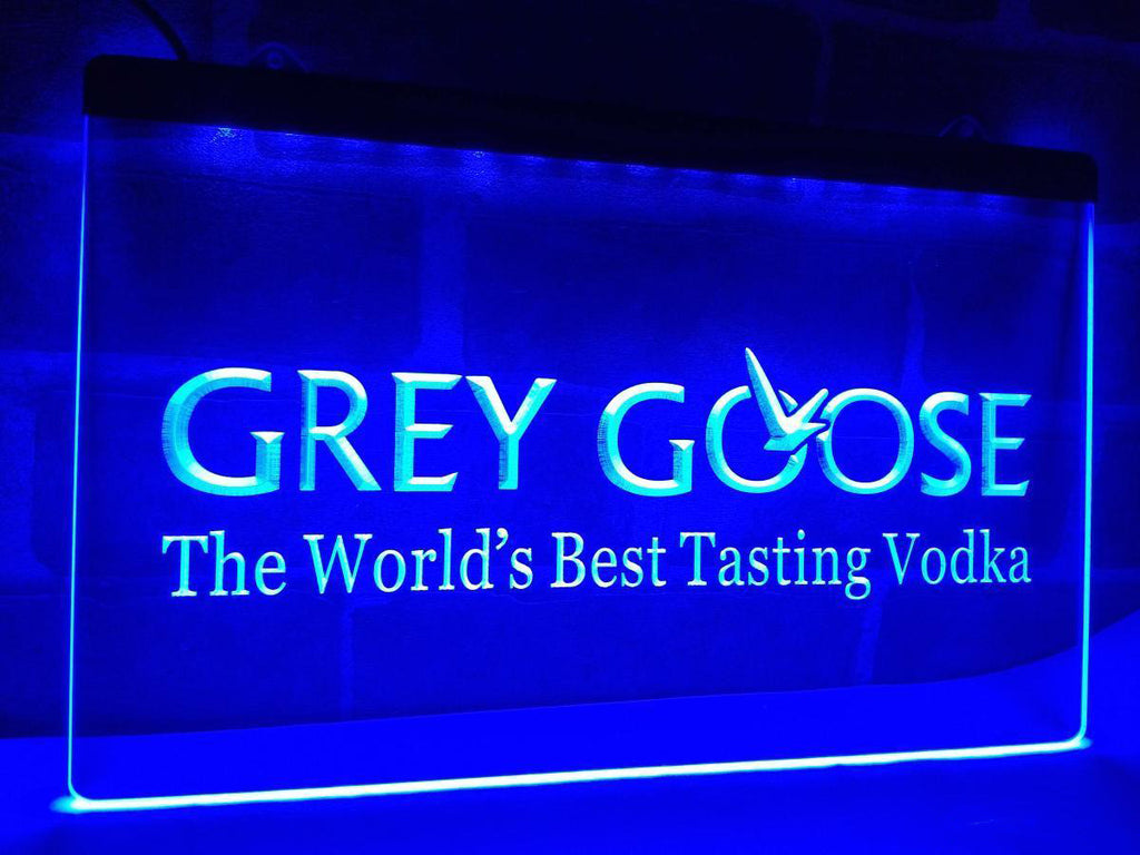 FREE Grey Goose Vodka LED Sign - Blue - TheLedHeroes