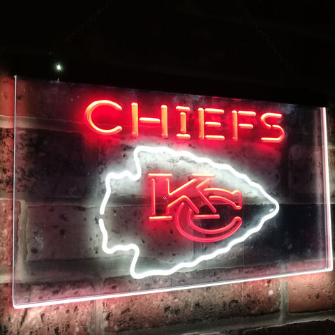 Kansas City Chiefs Dual Color Led Sign - Normal Size (12x8.5in) - TheLedHeroes