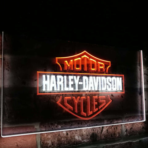 Harley Dual Color Led Sign - Normal Size (12x8.5in) - TheLedHeroes
