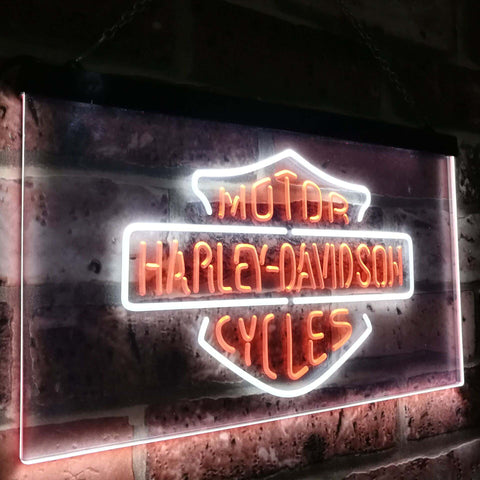 Harley Davidson Classic Dual Color Led Sign - Normal Size (12x8.5in) - TheLedHeroes