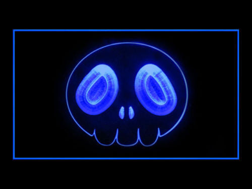 the World God Only Knows Skull LED Sign - Blue - TheLedHeroes