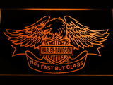 FREE Harley Davidson Not Fast But Class LED Sign - Orange - TheLedHeroes