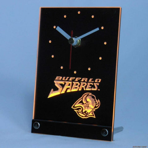 Buffalo Sabres Desk LED Clock