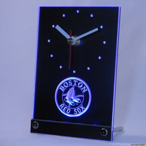 Boston Red Sox Table Desk 3D LED Clock - FREE SHIPPING