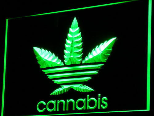 Cannabis Weed High Life NEON LED Sign - Green - TheLedHeroes